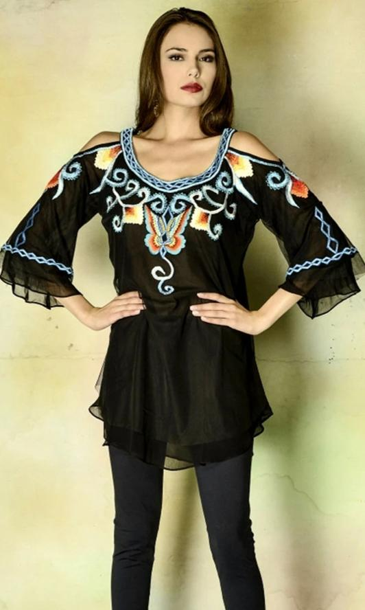 VINTAGE COLLECTION BUTTERFLY TUNIC_on SALE