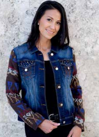 Venario Blue Camryn Denim Jacket