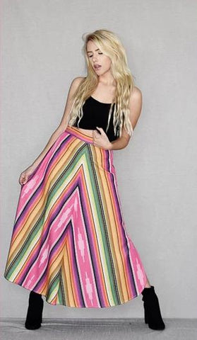 VINTAGE COLLECTION SUNSET SALTILLO ASYM RUFFLE SKIRT_Collectible