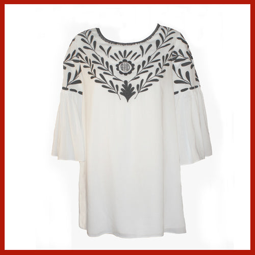 Vintage Collection White Cleo Tunic