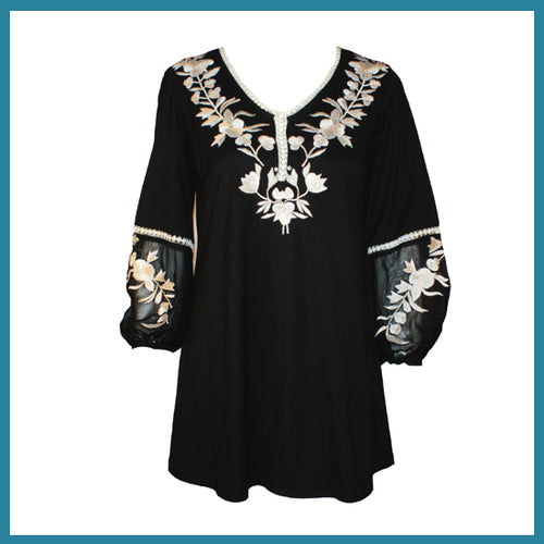 Vintage Collection Danni Tunic in Blk/White Spring 2018