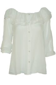 Vintage Collection Double Ruffle Peasant Top