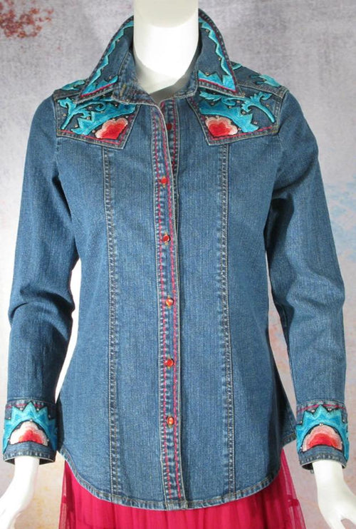 VINTAGE COLLECTION SUNRISE WESTERN SHIRT on SALE