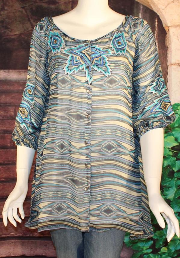 VINTAGE COLLECTION PEACE PIPE TUNIC on SALE