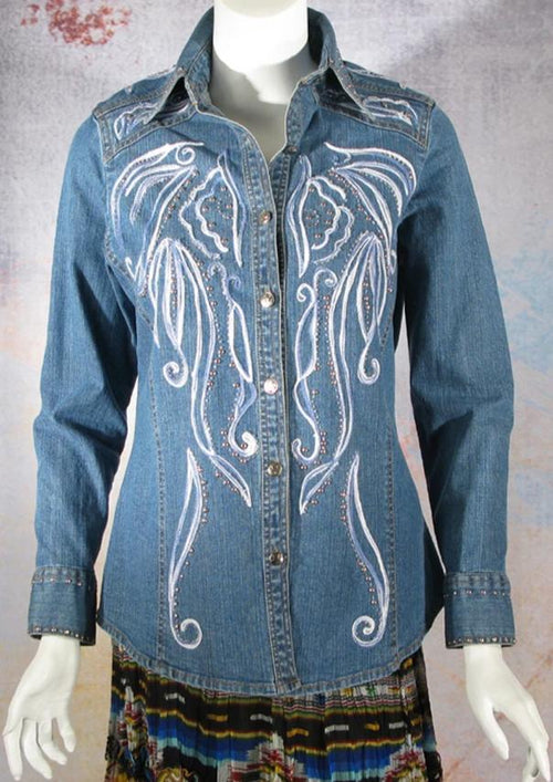 VINTAGE COLLECTION SCROLL WESTERN SHIRT on SALE