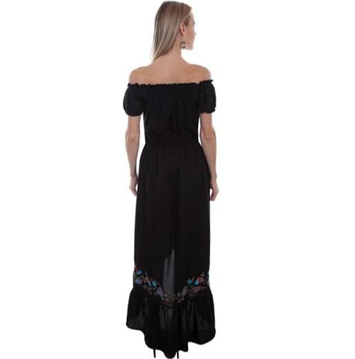 Scully Embroidered Ruffle Maxi Dress