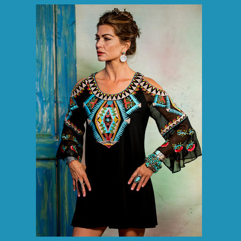 Johnny Was Boho Mix Blouse