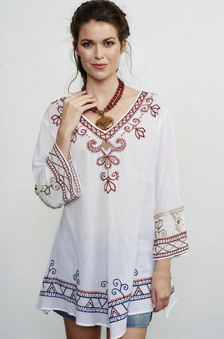 ROJA INDIGO PEASANT TUNIC on SALE