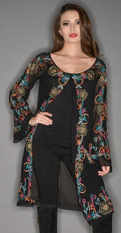Vintage Collection FLOWER GARDEN TUNIC COAT on SALE