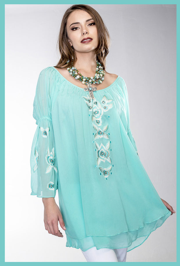 VINTAGE COLLECTION JADE TUNIC on SALE
