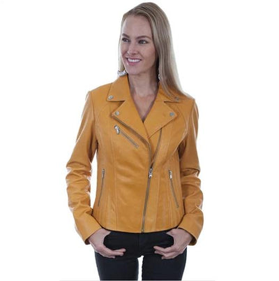 Scully Butterscotch Leather Motorcycle Jacket