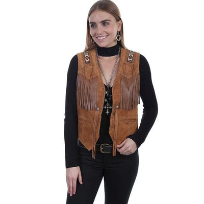 Scully Leather Fringe Vest