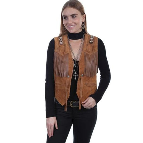 Scully Expresso Fringe Leather Jacket