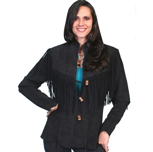 Scully Black Fringe Jaceket