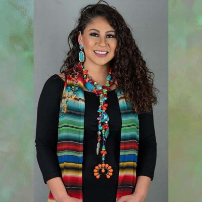 Fiesta Lariat/Necklace by Dyanne Silver