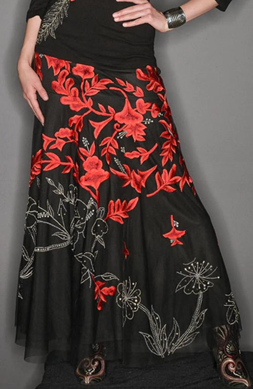 VINTAGE COLLECTION METAL ROSE LONG SKIRT_Collectible