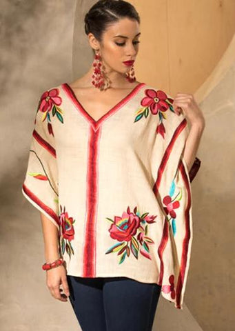 ROJA TREE OF LIFE PONCHO on SALE