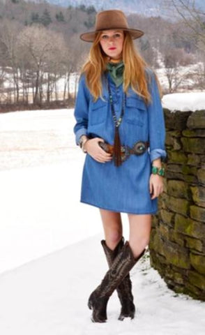Vintage Collection Angel Lake Denim Dress/Tunic on SALE