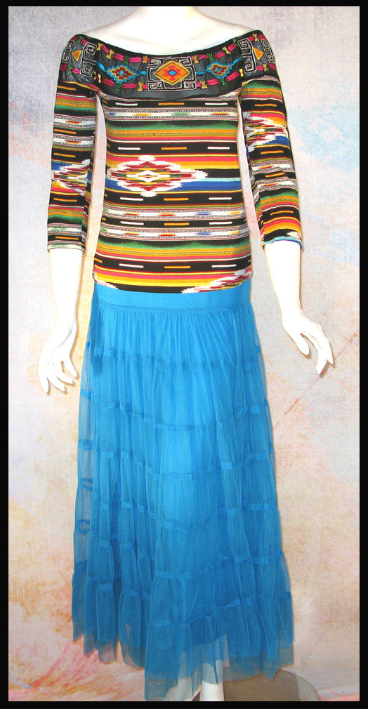 Vintage Collection Embroidered Rainbow Saltillo Ballet Top_Collectible