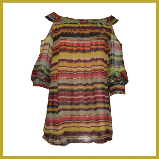 Vintage Collection Nature Saltillo Open Shoulder Tunic