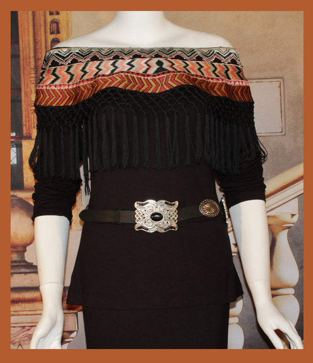Vintage Collection NAVAJO COWL KNIT TOP on SALE