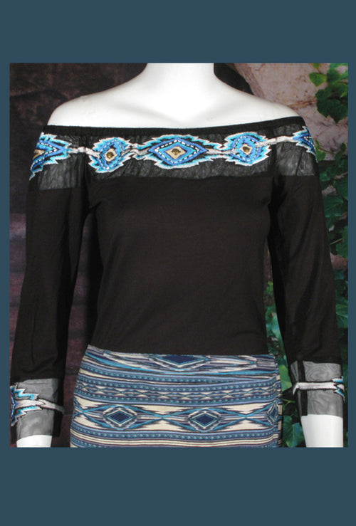 VINTAGE COLLECTION PEACE PIPE KNIT TOP2 on SALE