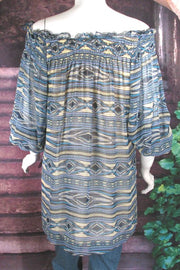 Vintage Collection Peace Pipe Smocked Tunic