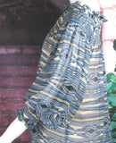 VINTAGE COLLECTION  PEACE PIPE SMOCKED TUNIC on SALE