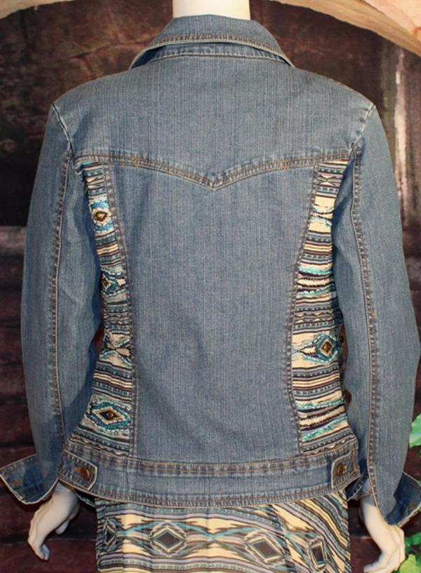 VINTAGE COLLECTION PEACE PIPE DENIM JACKET on SALE