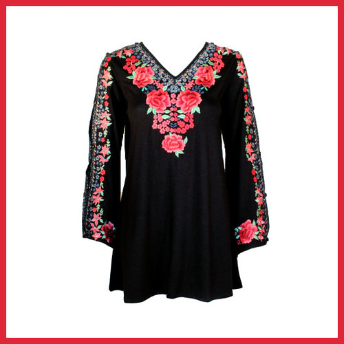 Vintage Collection Roses Bellsleeve Tunic Fall 2017