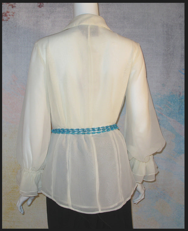 Vintage Collection Ivory Ruffle Blouse