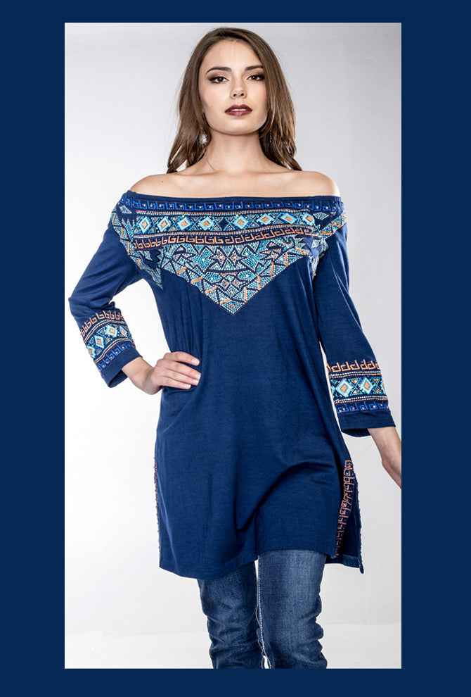 VINTAGE COLLECTION SAPPHIRE TUNIC on SALE
