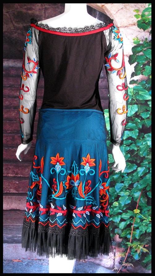 VINTAGE COLLECTION FIRE DANCE SHORT SKIRT_Collectible