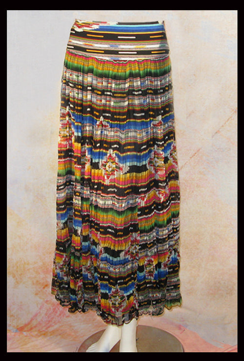 Vintage Collection Rainbow Saltillo Long Skirt_Collectible