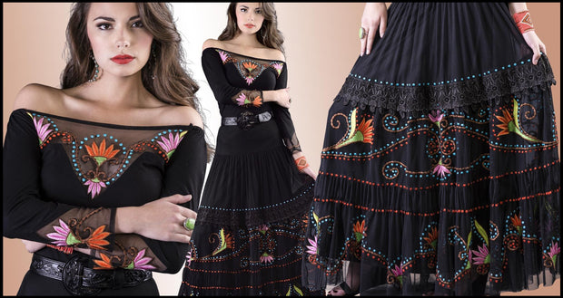 Vintage Collection Exotica Long Skirt_Collectible