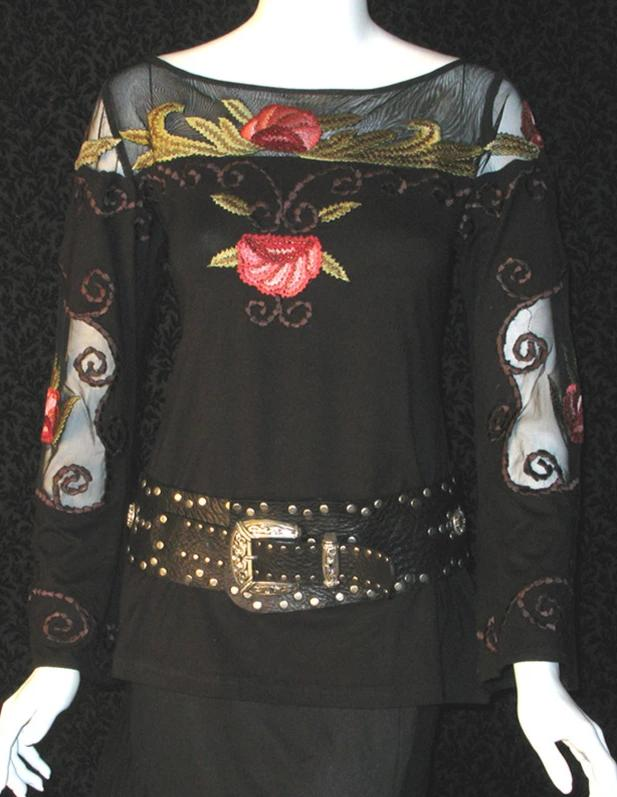 Vintage Collection Soft Roses Bell Sleeve Top on Sale