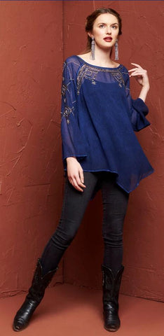 ROJA COLLECTION SIGNORIA PEASANT TOP on SALE