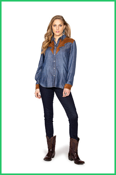 Double D Ranchwear Dirt Track Workshirt-Matagorda
