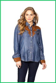 Double D Ranchwear Dirt Track Workshirt
