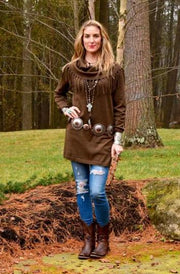 Tasha Polizzi Thoroughbred Tunic in Twig