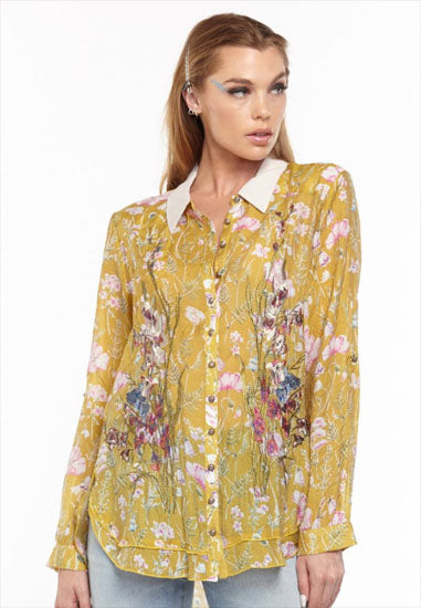 Aratta Timeless Shirt in Mustard