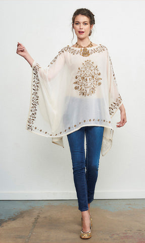 ROJA COLLECTION FOX PONCHO on SALE