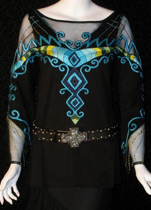 Vintage Collection Turquoise Zuni Bell Sleeve Top
