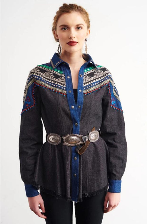 ROJA COLLECTION URBAN COWGIRL SHIRT on Sale