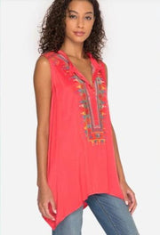 Johnny Was Versairo Crinkle Satin Tunic