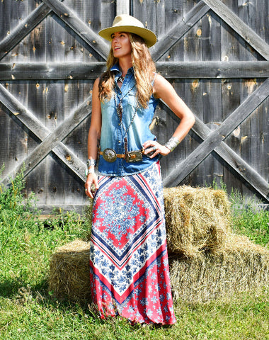 TASHA POLIZZI SERAPE SKIRT ON sale