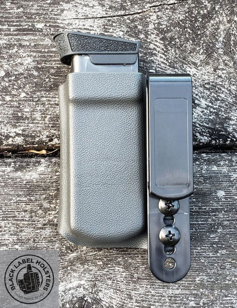 Kydex Single Magazine Carrier w/ Adjustable Ride Height, Tuckable AIWB/IWB, Glock, Sig, Smith & Wesson, Springfield