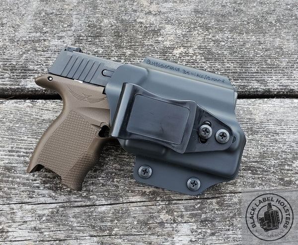 "Sig Sauer P365 w/ Icarus Precision P365 ACE grip module, O-Light PL-Mini 2 in our AIWB Rig done in .080"" Black Kydex."