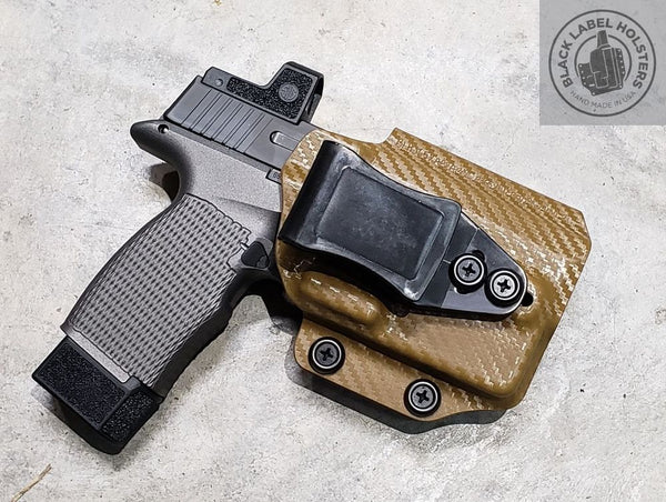 "ACE-equipped Sig Sauer P365 & P365XL w/ Lights & Lasers- ""AIWB Rig"" Full Kydex Appendix Holster w/ Adjustable Ride Height and Cant, O-Light PL-Mini 2 & Baldr Mini, Streamlight TLR-7, TLR-7A"