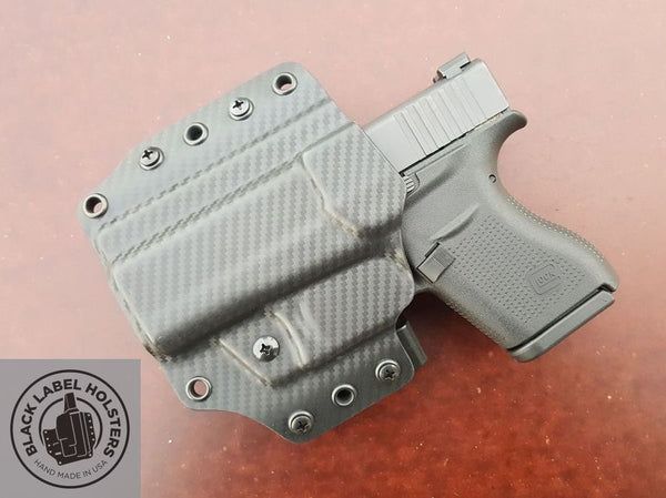 "Full Coverage Modular Holster for Outside The Waistband(OWB) Carry in .080"" Kydex"